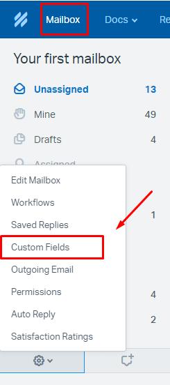 creating custom fields in help scout