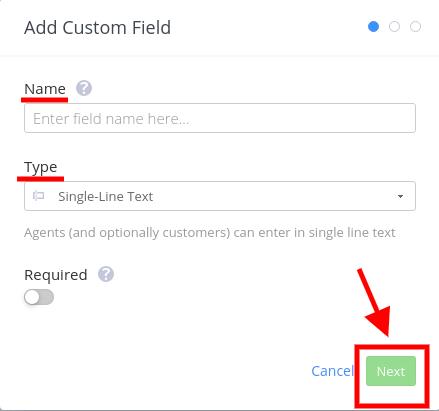 Add Custom field Teamwork Screenshot