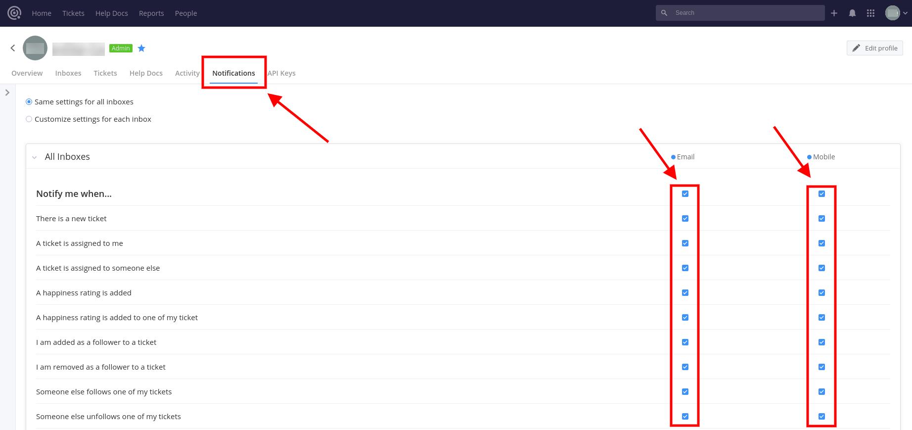 Notifications Teamwork Screenshot