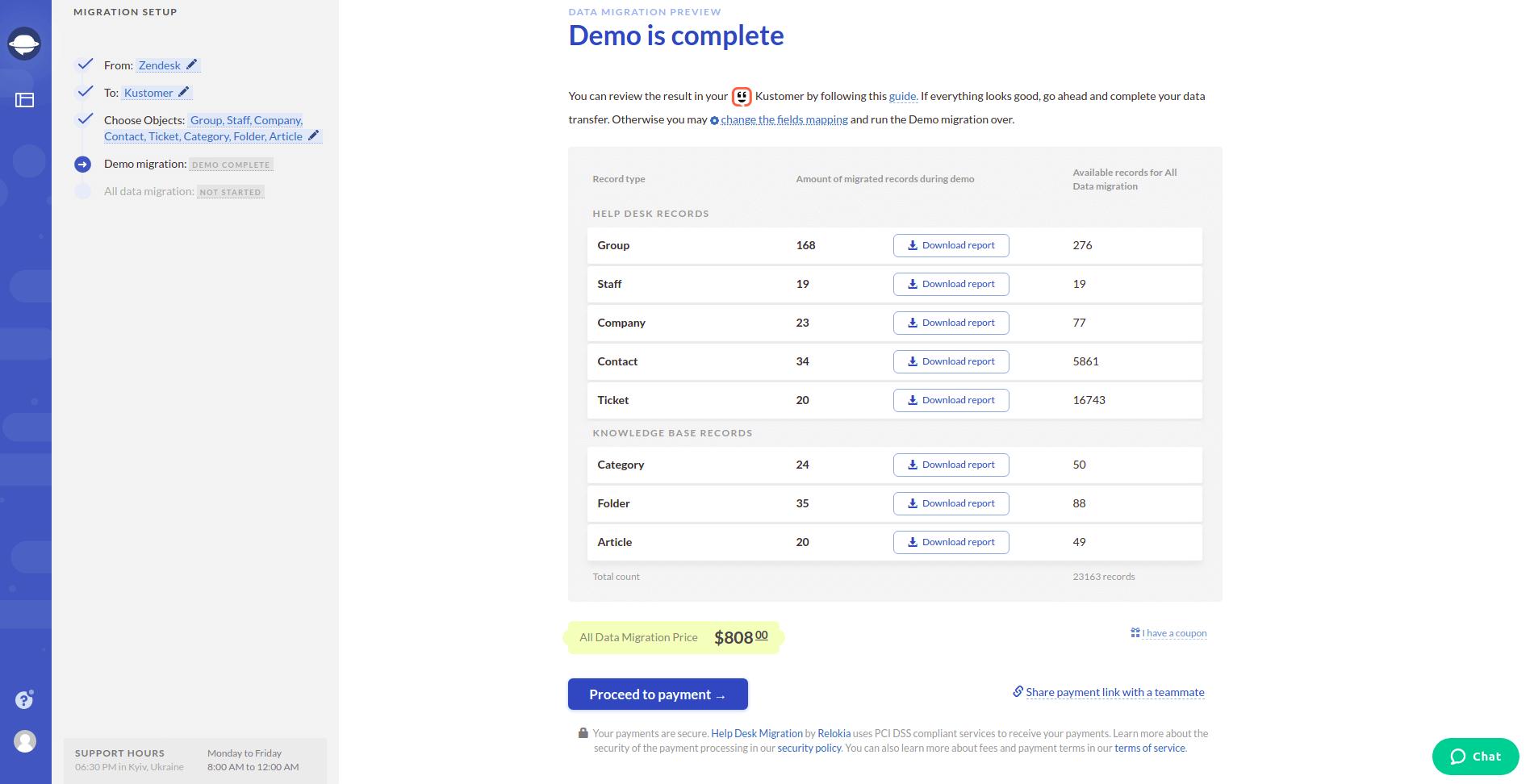 Demo is Complete Screenshot