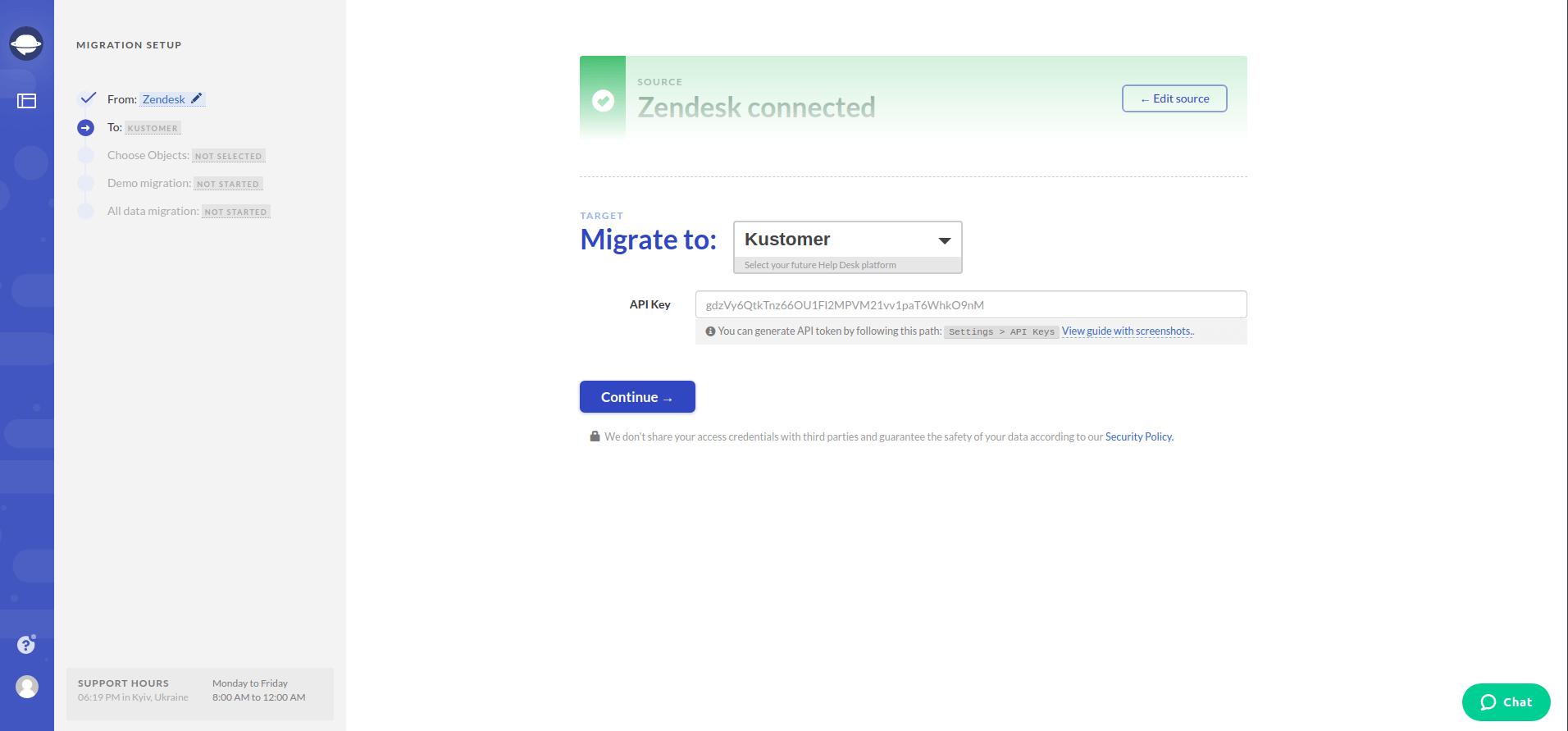 Migrate to Kustomer Screenshot